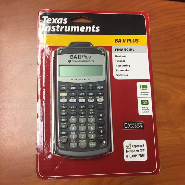 BNEW ORIG Texas Instruments BA II 2 Plus Financial Calculator
