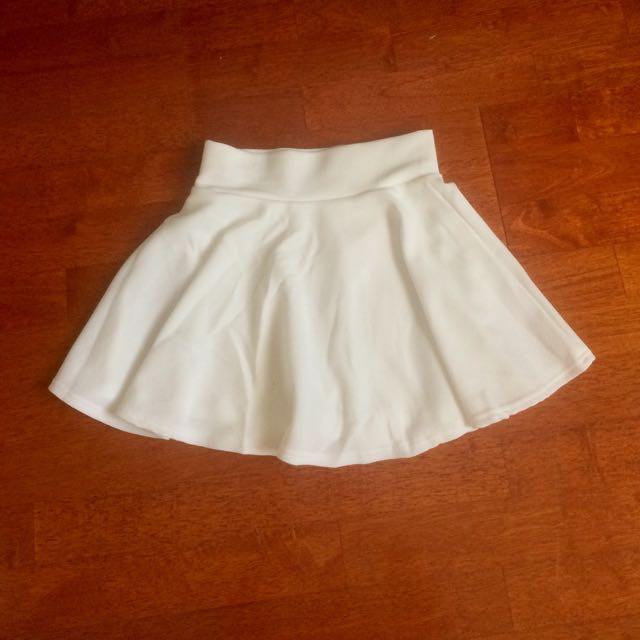 BNWOT White Skirt with shorts