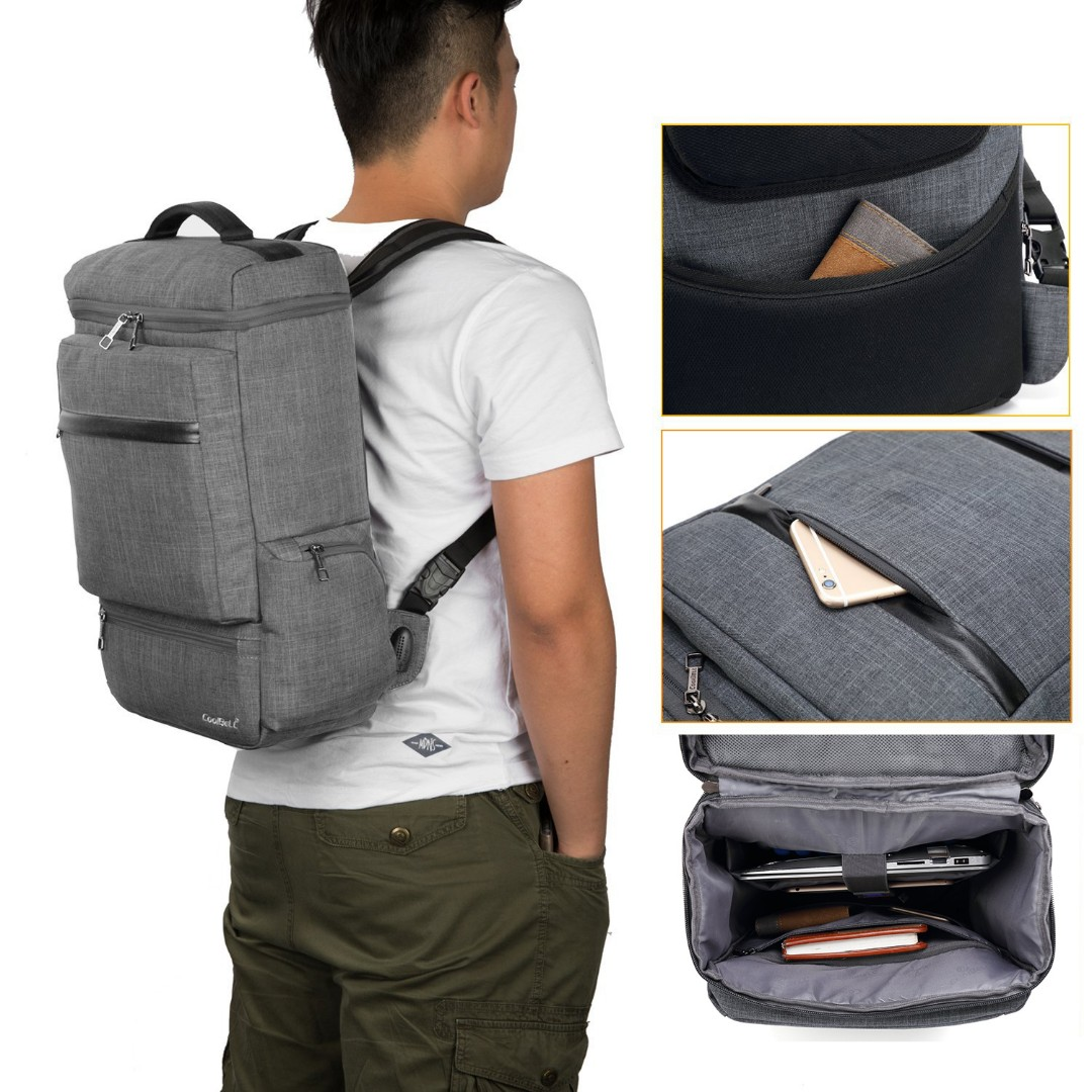 03c703a5cb5c Brand New  CoolBELL Convertible Backpack Messenger Bag With USB ...