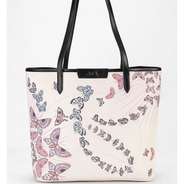 Butterfly Duck Tote Bag in Nude