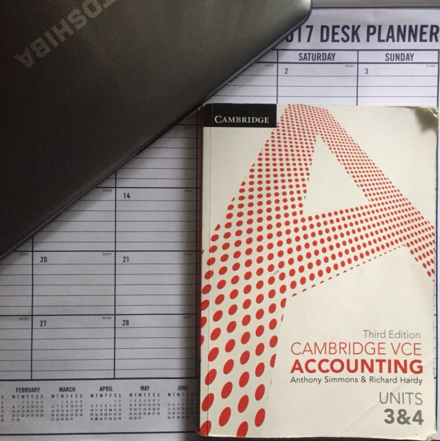 Cambridge VCE Accounting Units 3&4