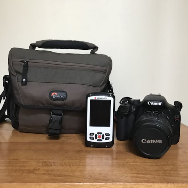 Canon Kiss X4 (550d) free Agfa photo Eclipse Explorer & Lowepro 160 aw