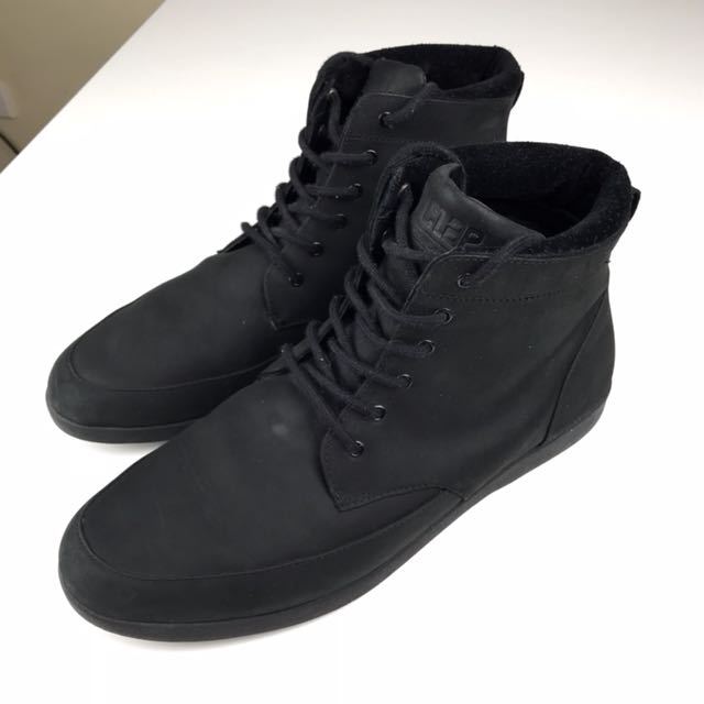 Clae Hamilton Black Leather Boot - US 12