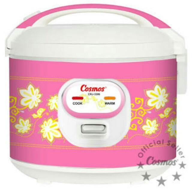 Cosmos rice cooker warna pink. Kebutuhan dapur yg utama.