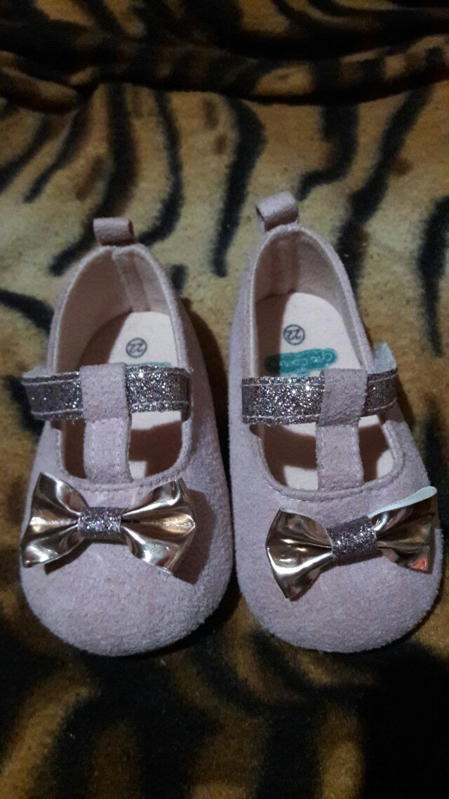 Crib couture shoes