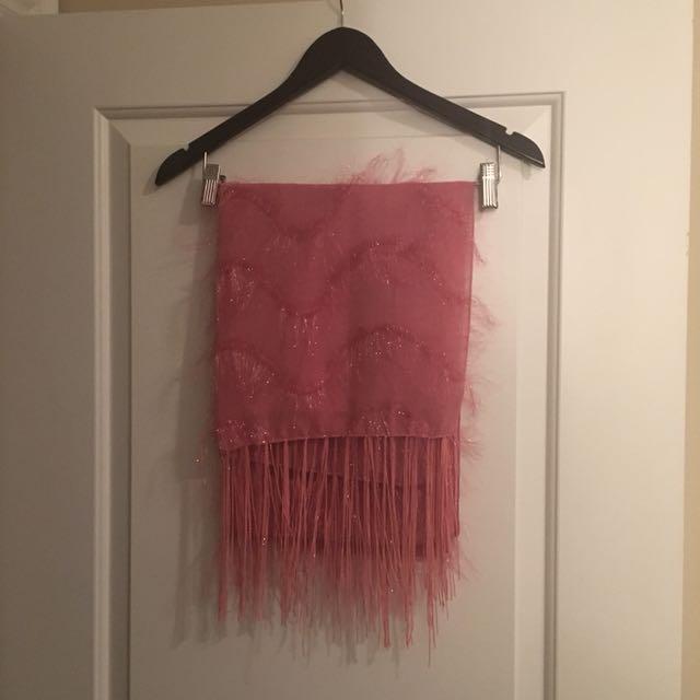 Decorative Pink Scarf