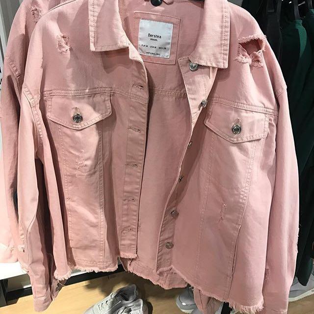 !!DICARI!! Bershka denim jacket dusty pink