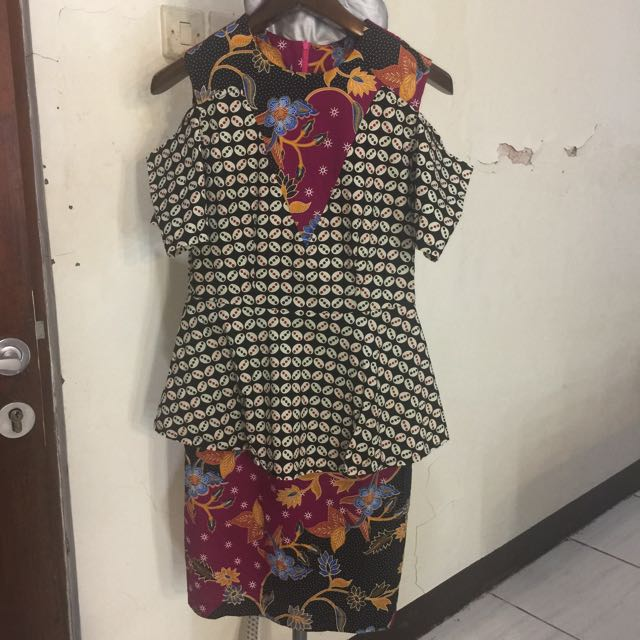 Dress batik sabrina bahan strech fit M to L