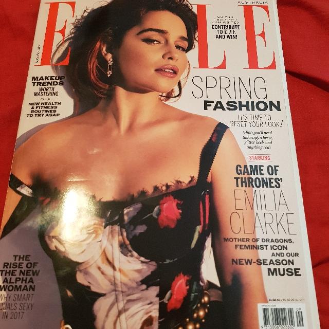 Elle Magazine. Emilia Clarke. September 2017