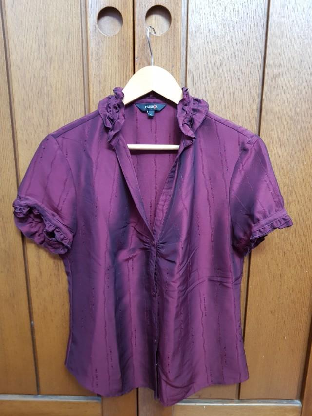 Essenxa maroon silk blouse