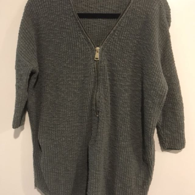 Express Zip Up Sweater - Size Medium