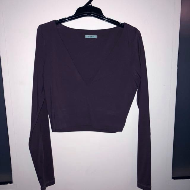 FREE POSTAGE Kookai Mauve Long Sleeve Crop Low Cut