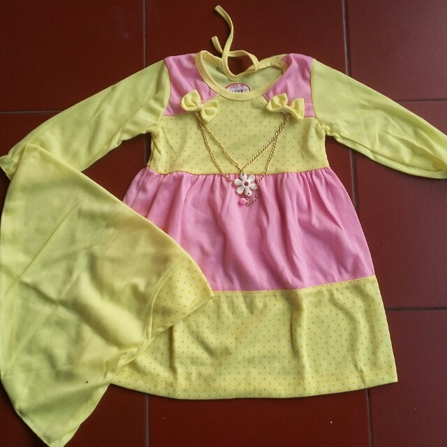 Gamis baby yellow set