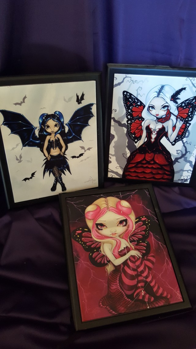 Gothic framed art tiles