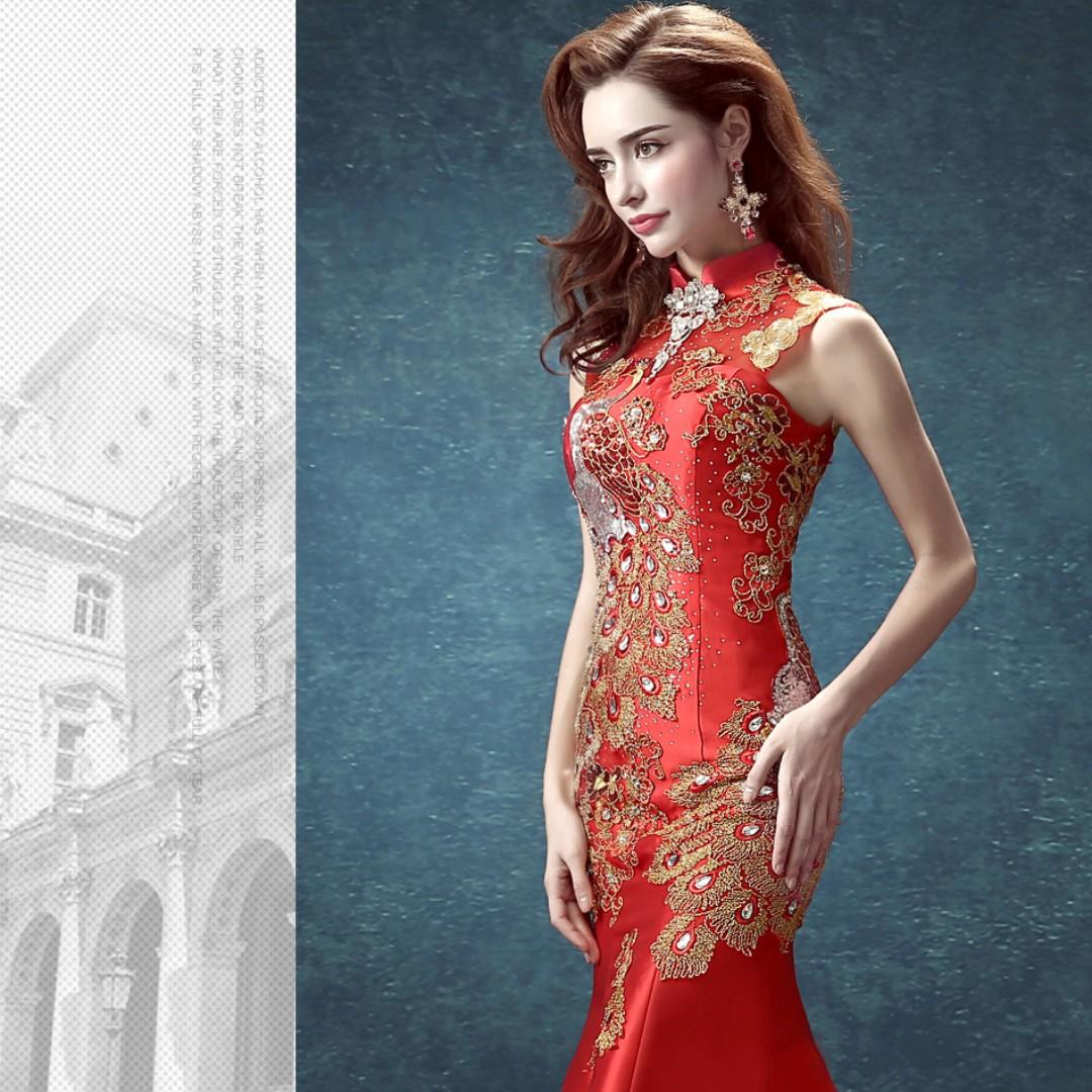 Modern Oriental Prom Dress Sketch - All Wedding Dresses ...