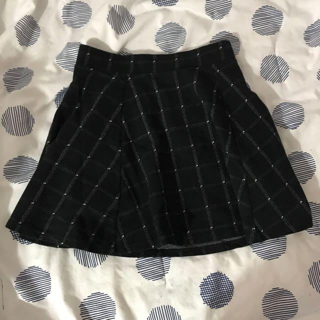 Grid A-line Skirt