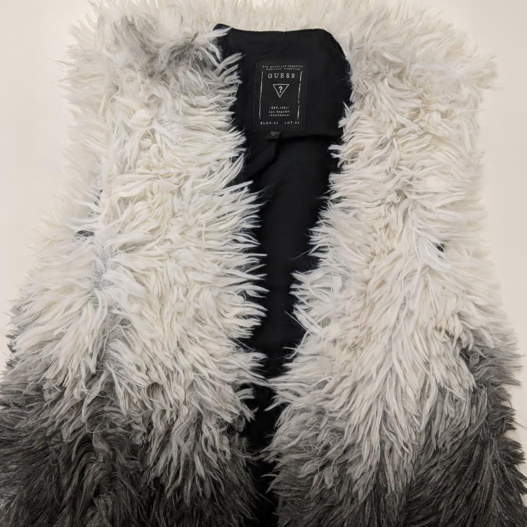 Guess long fur vest