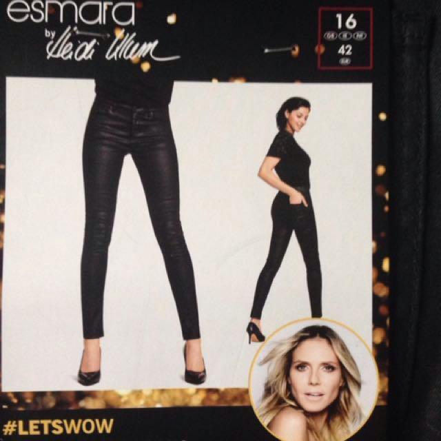 Heidi Klum super skinny leather look jeans