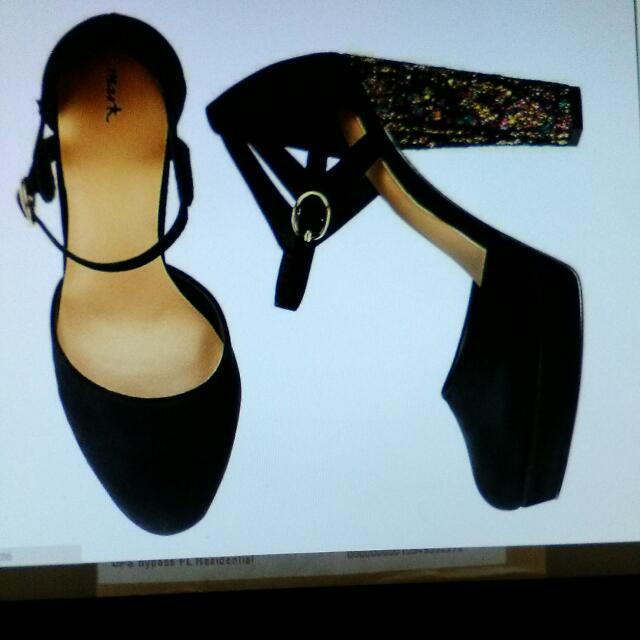 High On Glitter Platform Heels