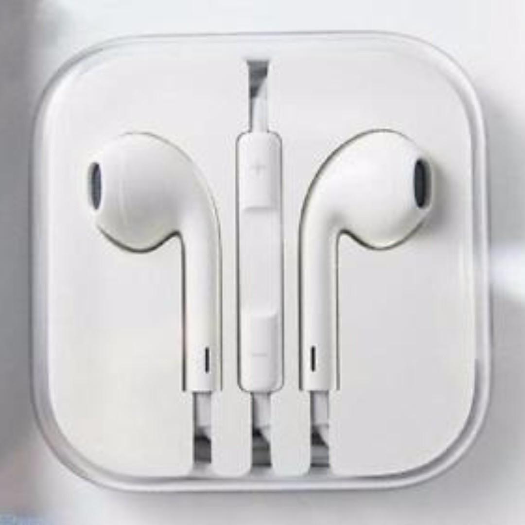high quality mic in-ear headset earphone white