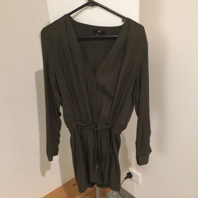 H&M Khaki Playsuit