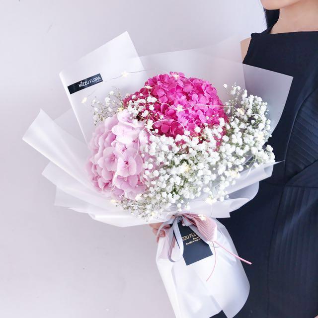 Hydrangea Bouquets - Flower | Hydrangea Flower Bouquet | Valentine\'s ...