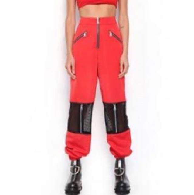 I am Gia Gwen pants in red size XS
