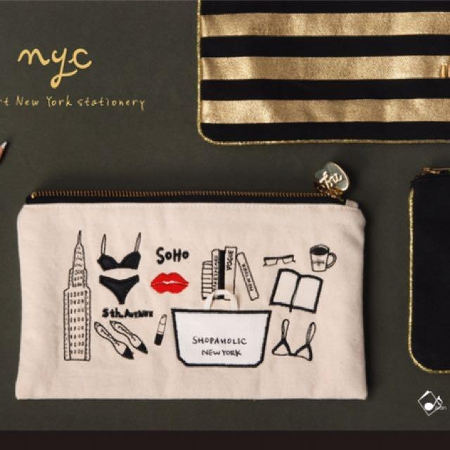 Jean紐約筆袋/化妝包/小包 NYC 時尚女性