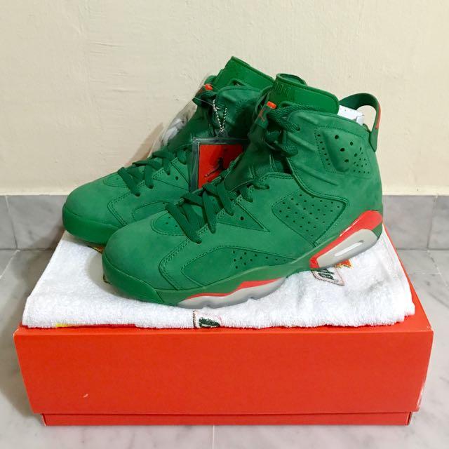9361976698e420 Jordan 6 Gatorade green Suede US9