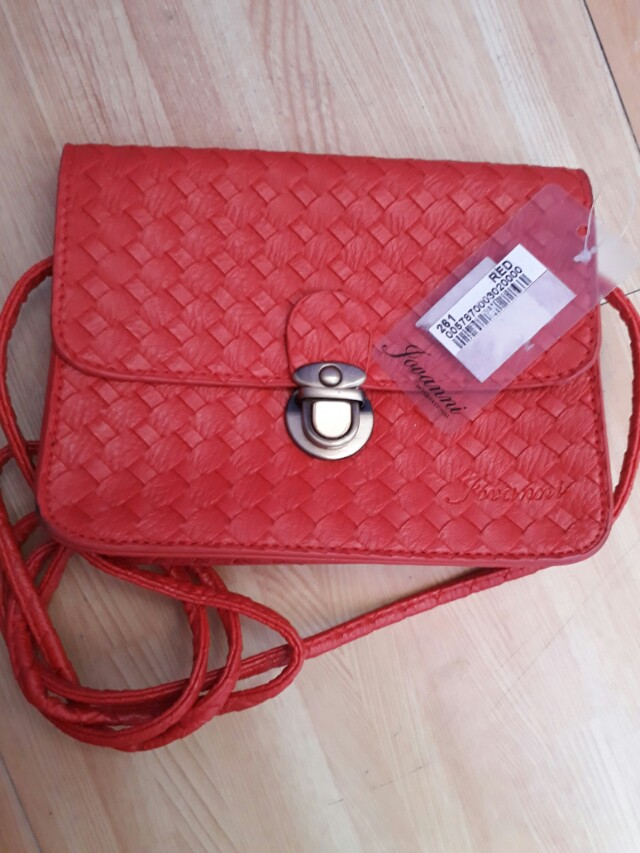 Jovani red sling bag