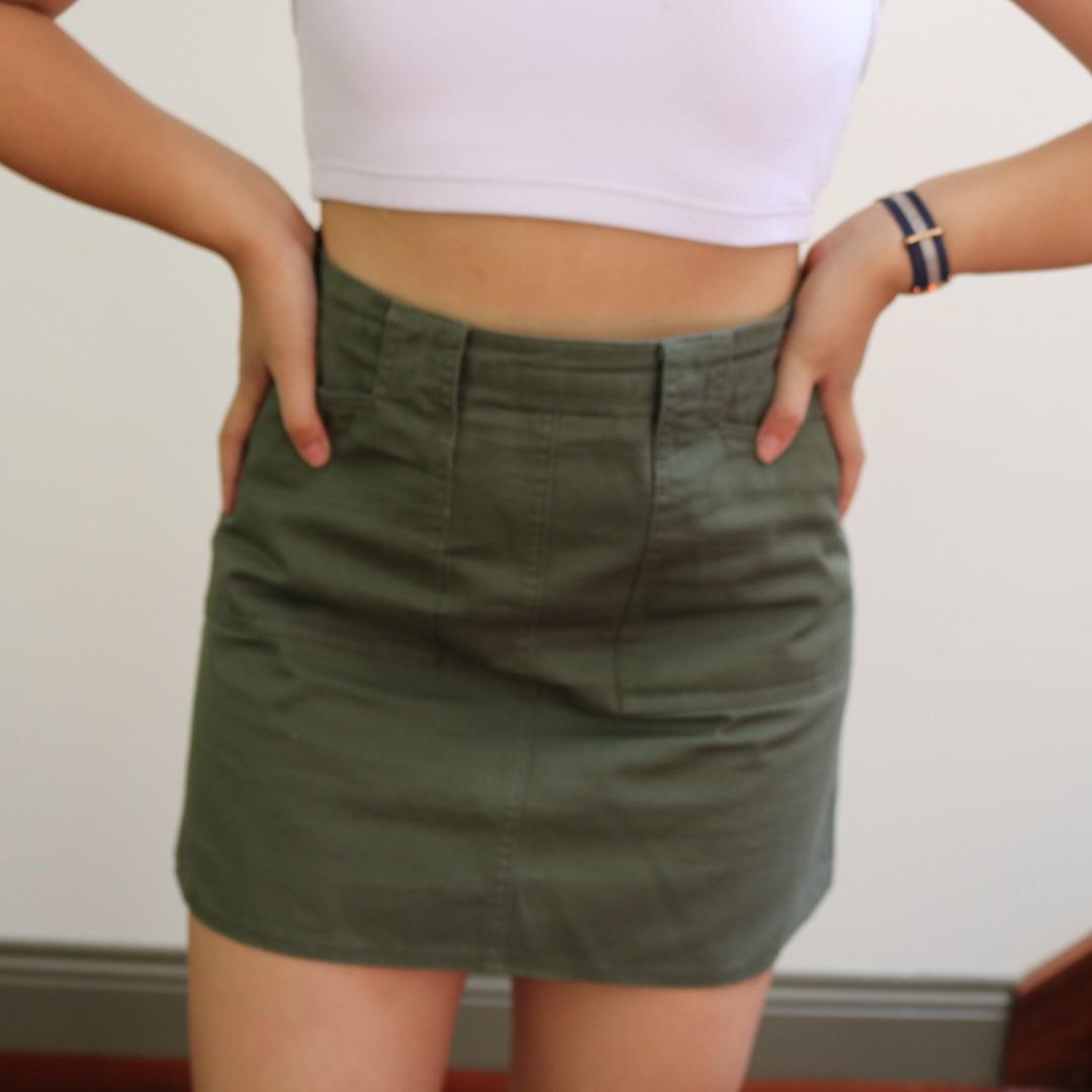 Khaki Green Skirt