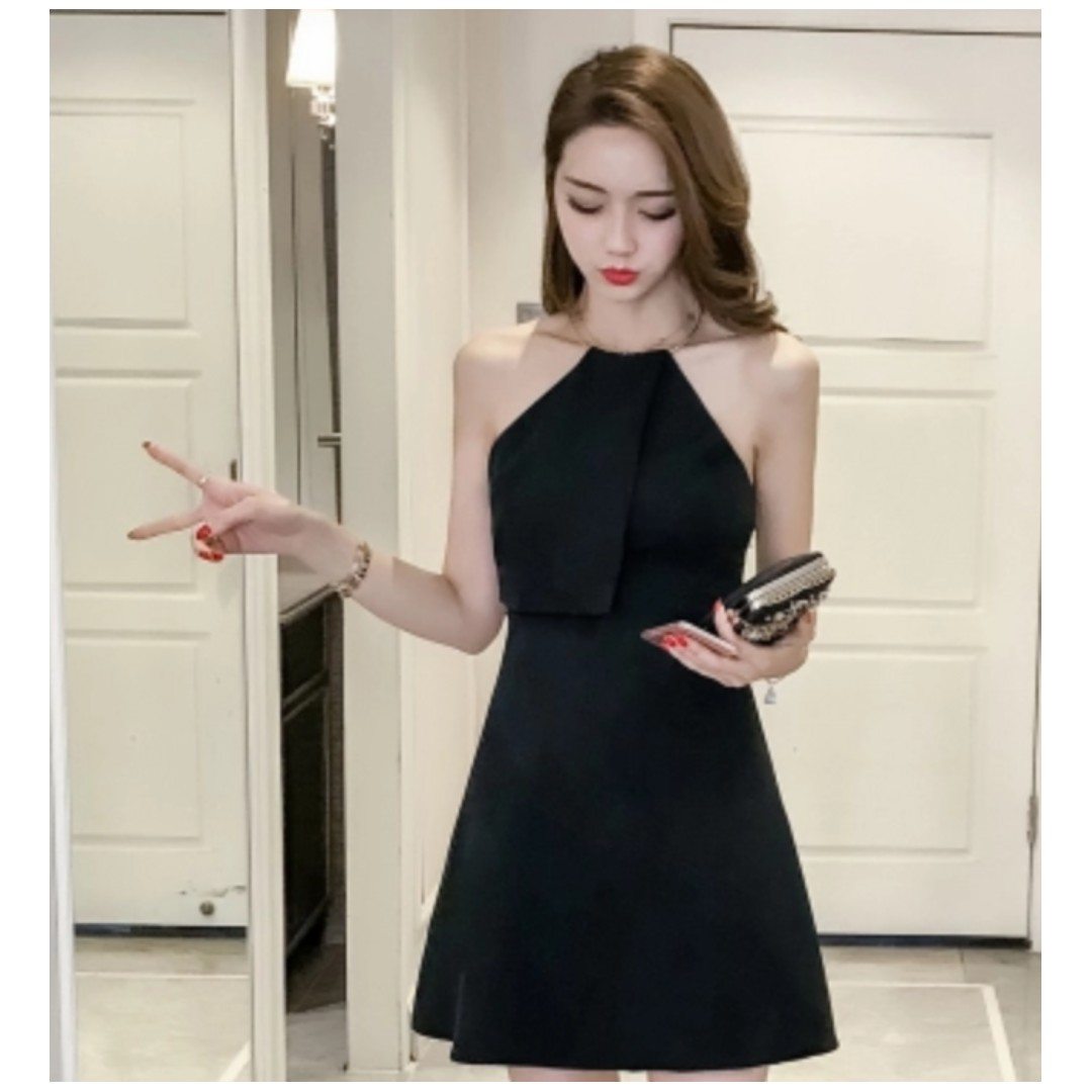 Korean Sexy Halter Metal Ring Dress Womens Fashion Clothes Dresses Skirts On Carousell