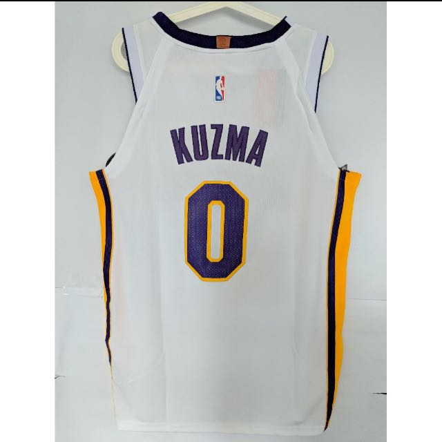 check out 40d88 ca527 LA Lakers Kyle Kuzma Nike White Jersey, Sports, Sports ...