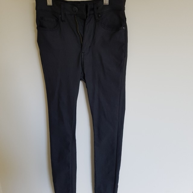 Lee coated black jeans high waist