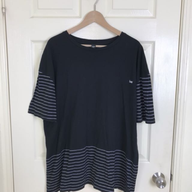 Lee Jeans Black Stripe T-Shirt - XXL