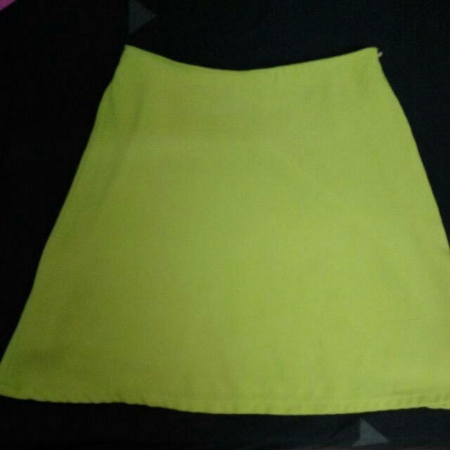 c0a942e832 Lime Green Mini Skirt, Women's Fashion, Clothes on Carousell