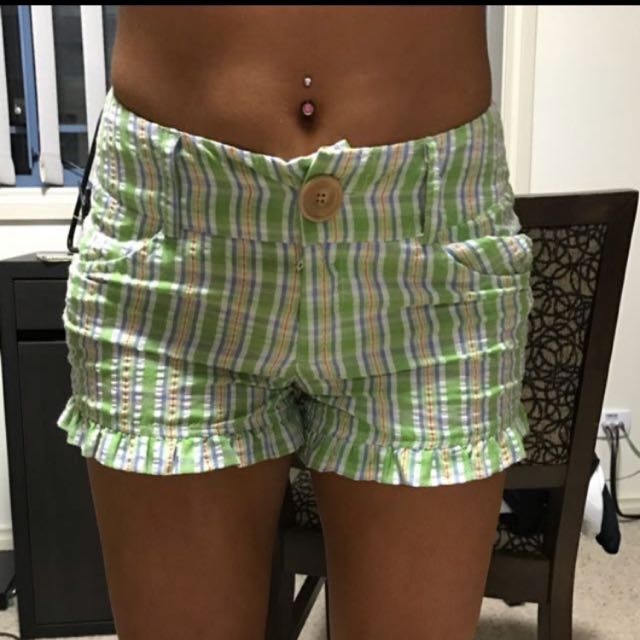 Lollipop Green/Blue Stripe Short