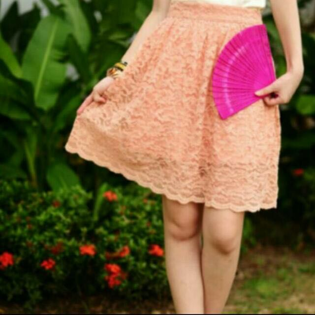 Lollyrouge Chinoiserie Chic Skirt (rose pink) M