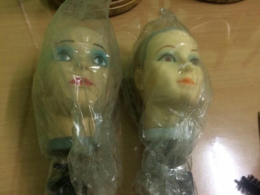 Manequin kepala eks salon 2buah