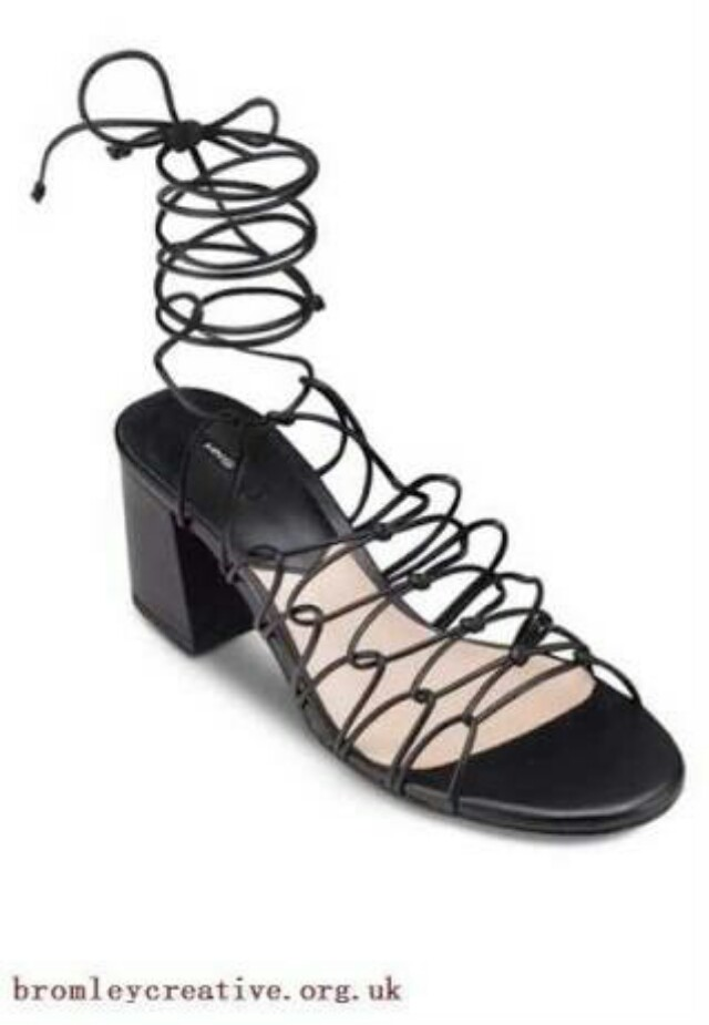 Mango Tied Up Heels