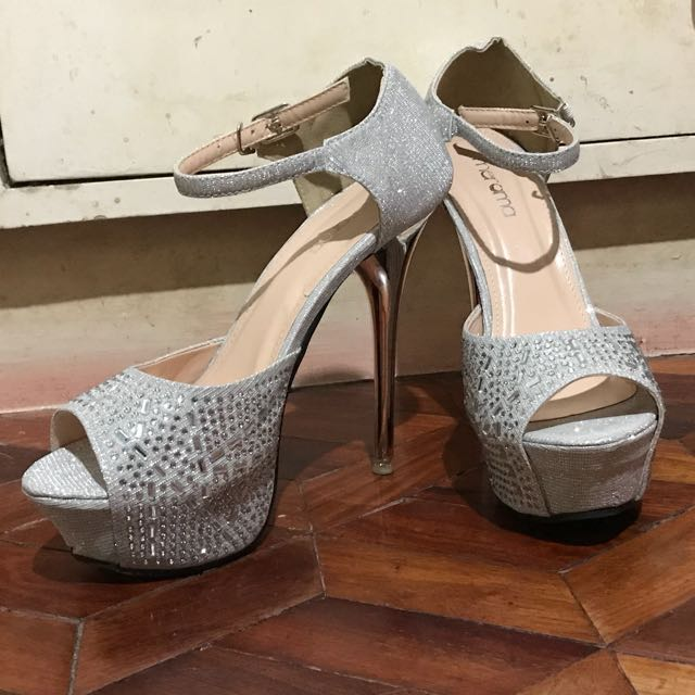f607337c86ee Meroma Silver High Heels Shoes (5 inches)