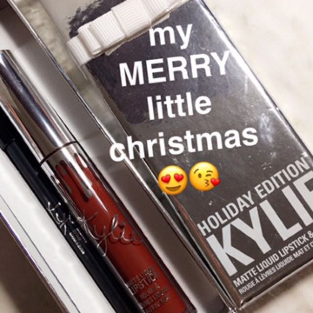 merry kylie lip kit christmas edition