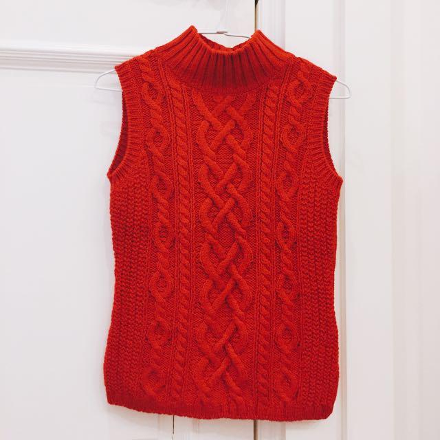 Michel Klein毛衣背心喜氣洋洋款