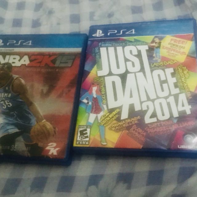 NBA 2K15 and Just Dance 2014