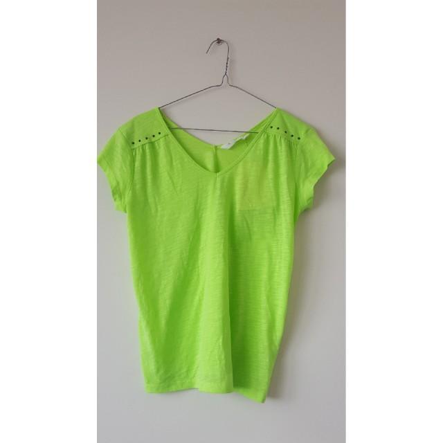 Neon green top