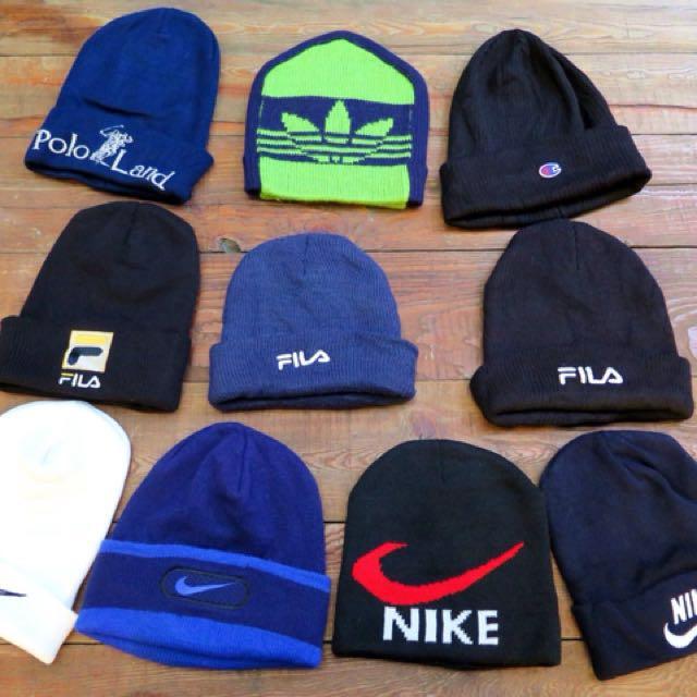 Nike毛帽 Fila polo毛帽