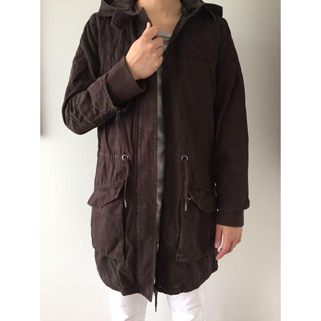 Nique dark chocolate jacket