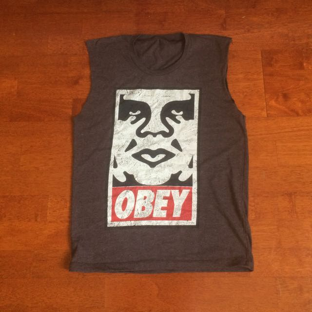 OBEY sleeveless t-shirt top