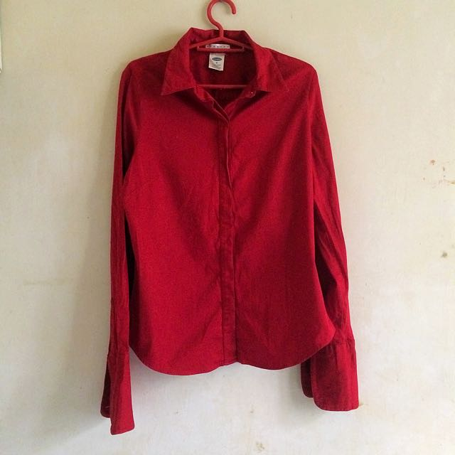 Old navy red long sleeves