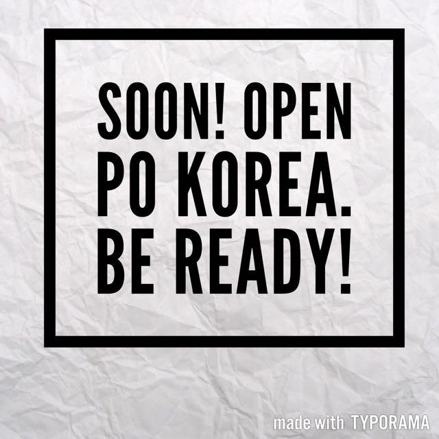 OPEN PO KOREA